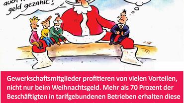 Weihnachtsmann Karrikatur