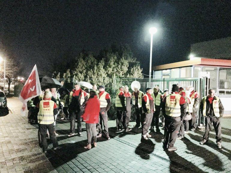 Am 21. Februar streikten die Beschäftigten der Frühschicht bei DPD in Crivitz