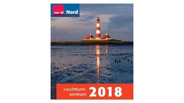 Leuchtturm auf der Titelseite der ver.di-Seminare 2018